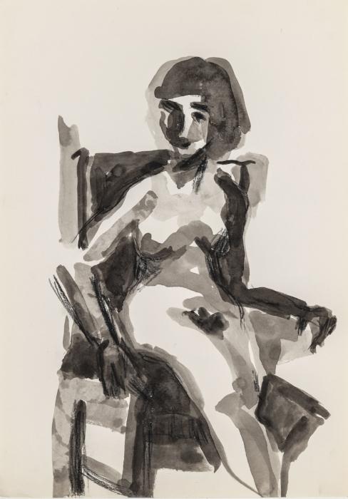 Seated Nude Self Portrait (after Diebenkorn)