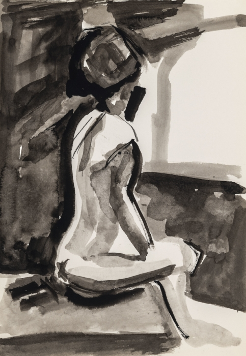 Seated Nude (after Bischoff)