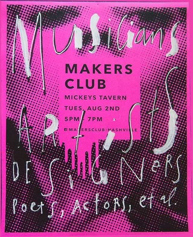 Do you make shit and live in Nashville? Come hang with us at #makersclub and share the shit that gets you out of bed everyday. We'll be the dude who looks like Shel Silverstein in the back.