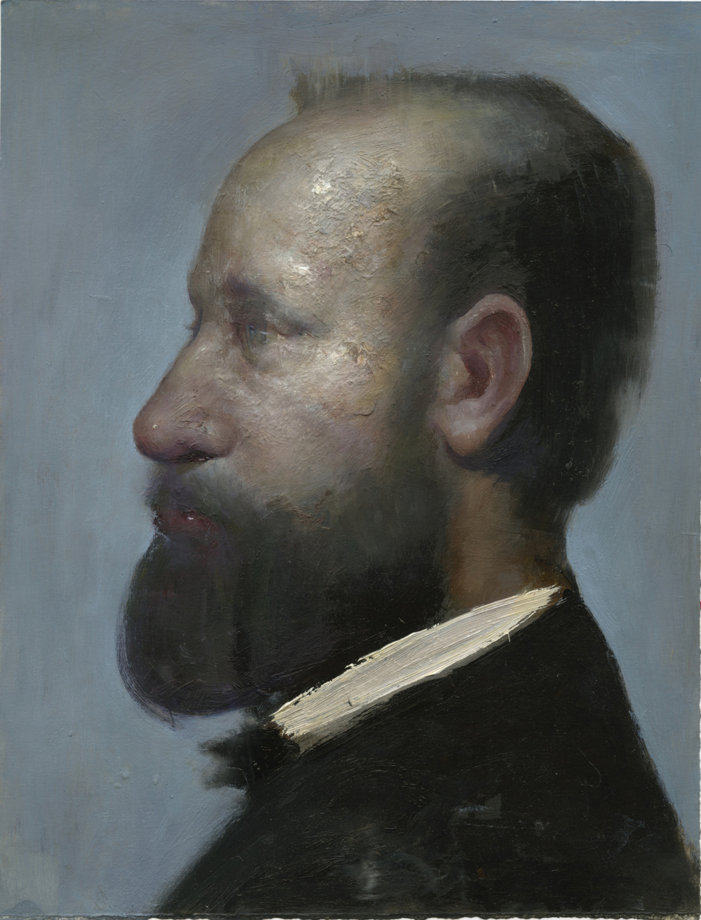 portrait of a man after degas