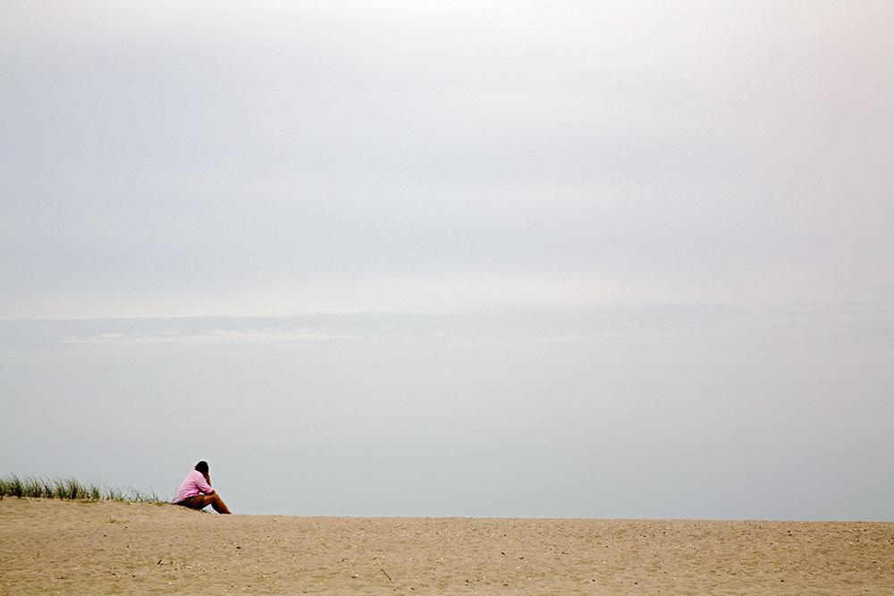 Mann am Strand, Sylt 2009