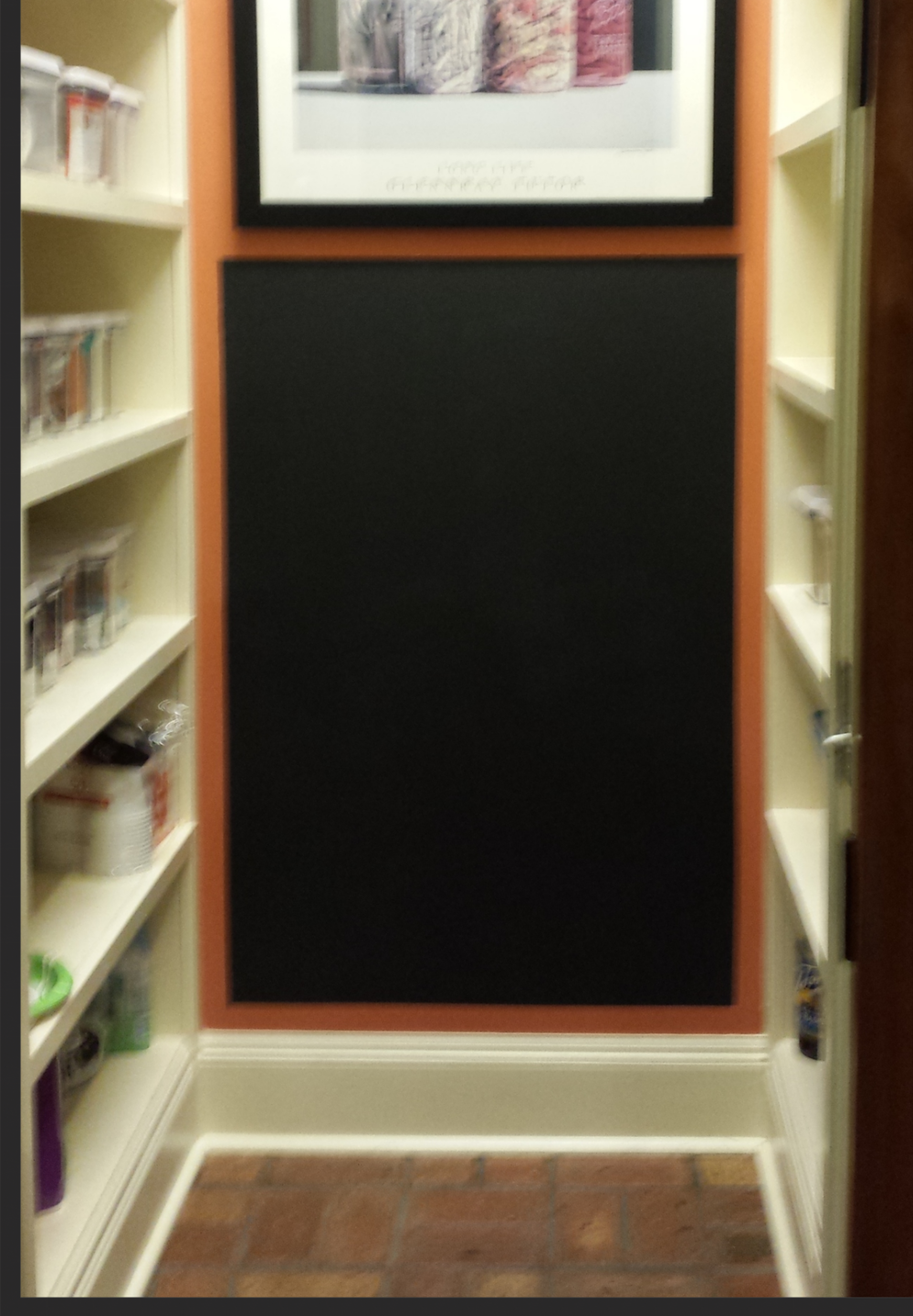 Finished chalkboard wall