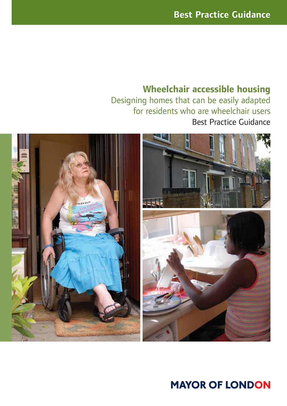 Cover of the Mayor of London's Best Practice Guidance on Wheelchair Accessible Housing.