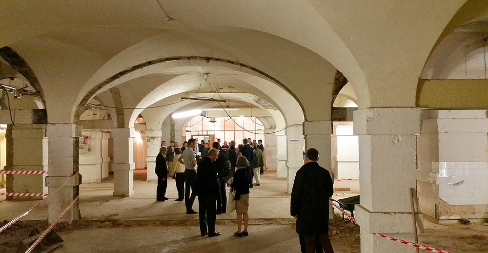The Crypt has not been seen without internal partitions since the 1700s.