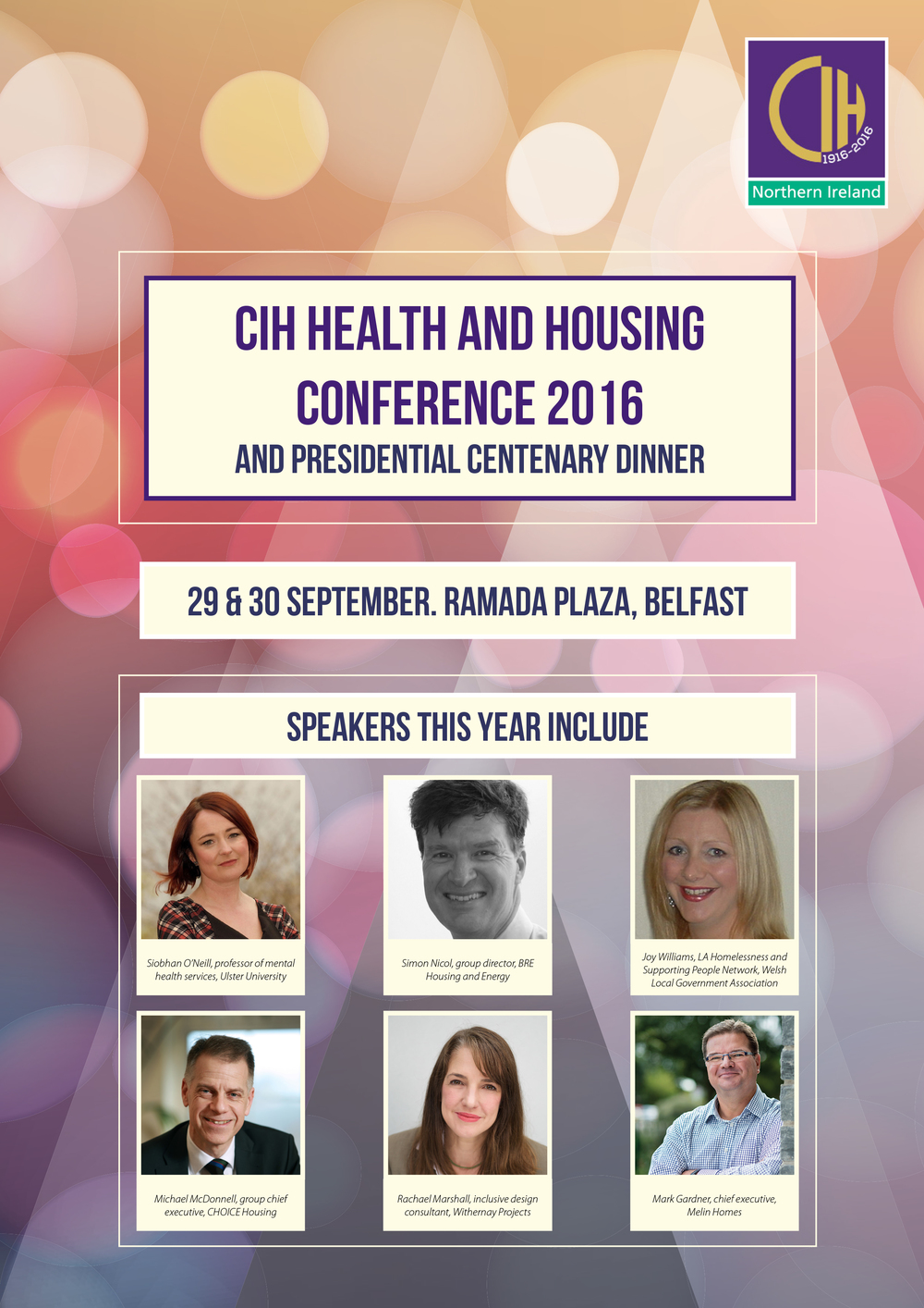 Brochure cover for CIH Health and Housing Conference 2016