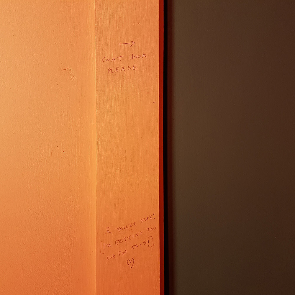 Musings on a WC cubicle wall.