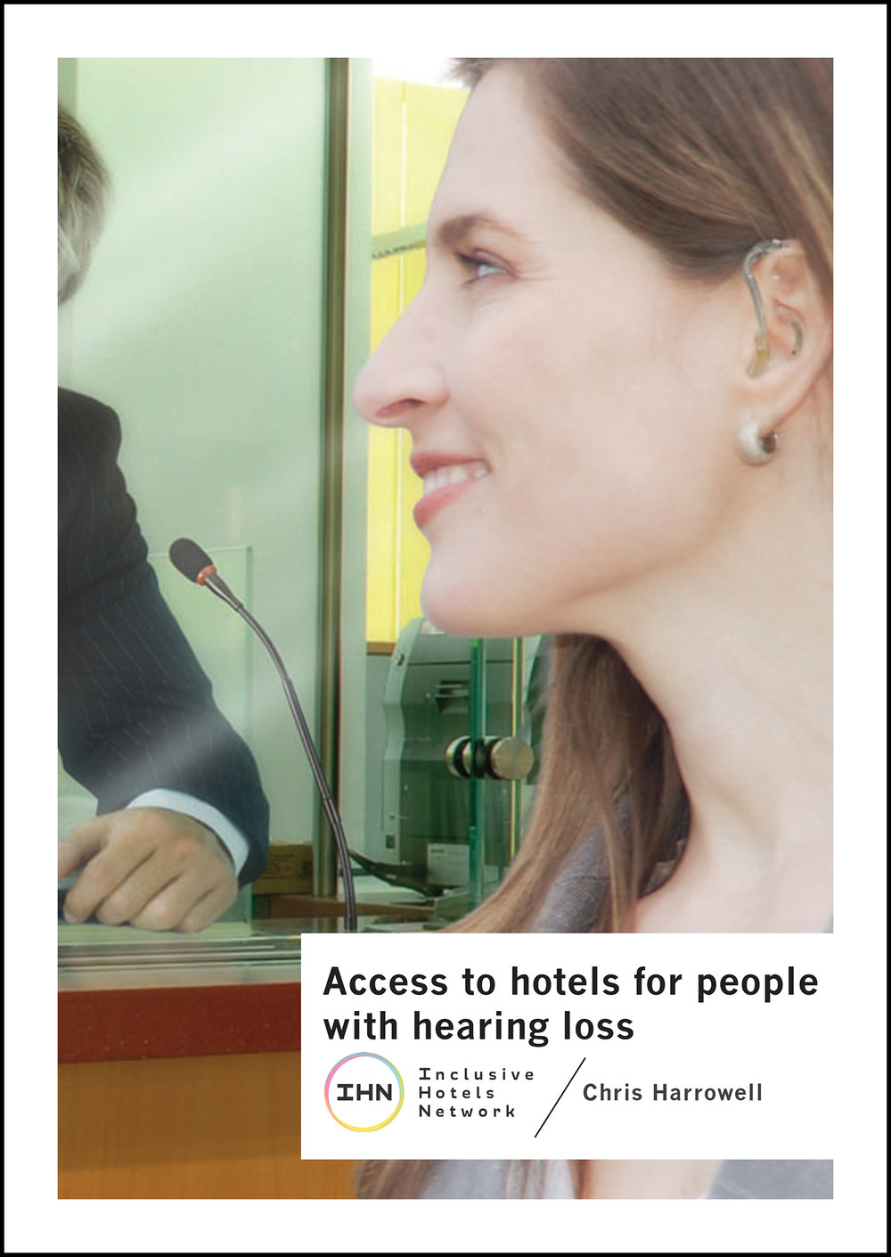Cover of Access to Hotels for People with Hearing Loss document with IHN logo.