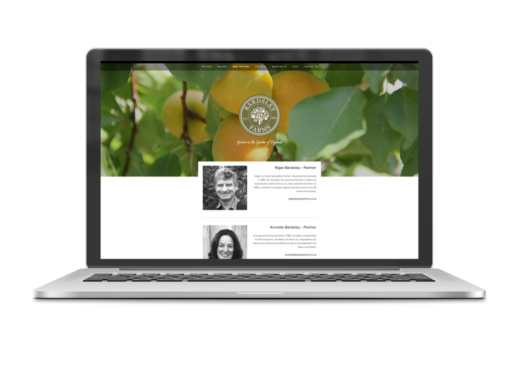 Bardsley farms Website 2