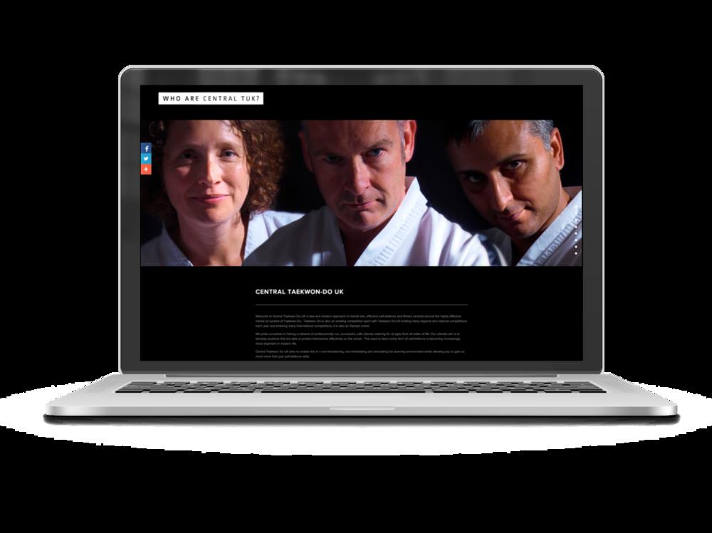 TKD Hub squarespace website 1