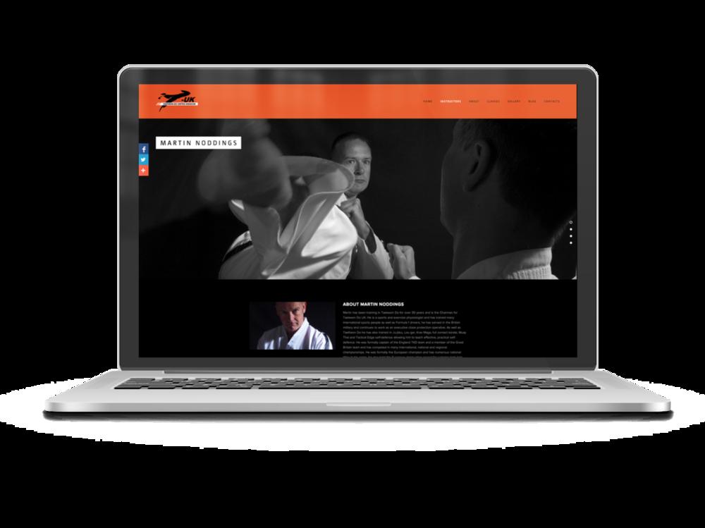 TKD Hub Squarespace website 2