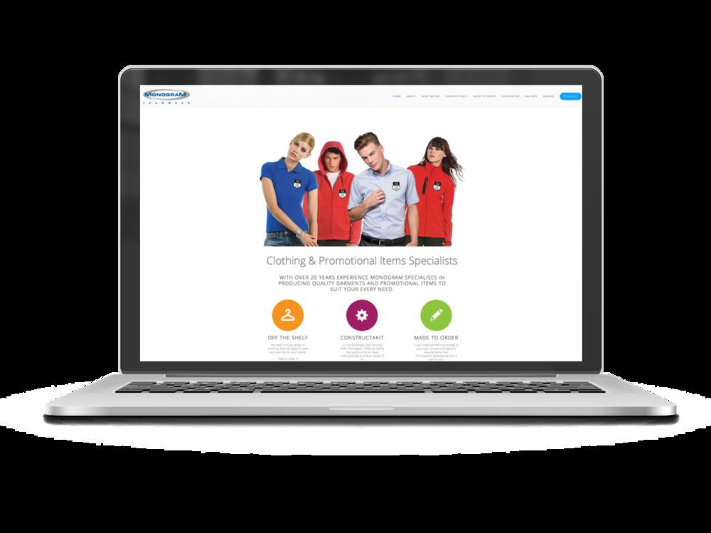 Monogram homepage