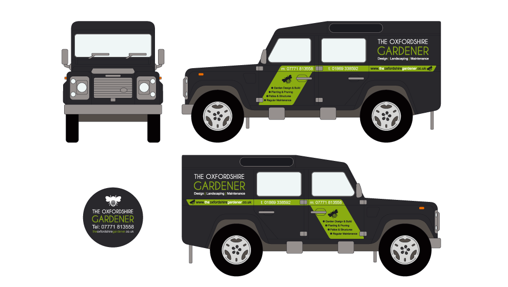 Oxfordshire Gardner Vehicle Livery