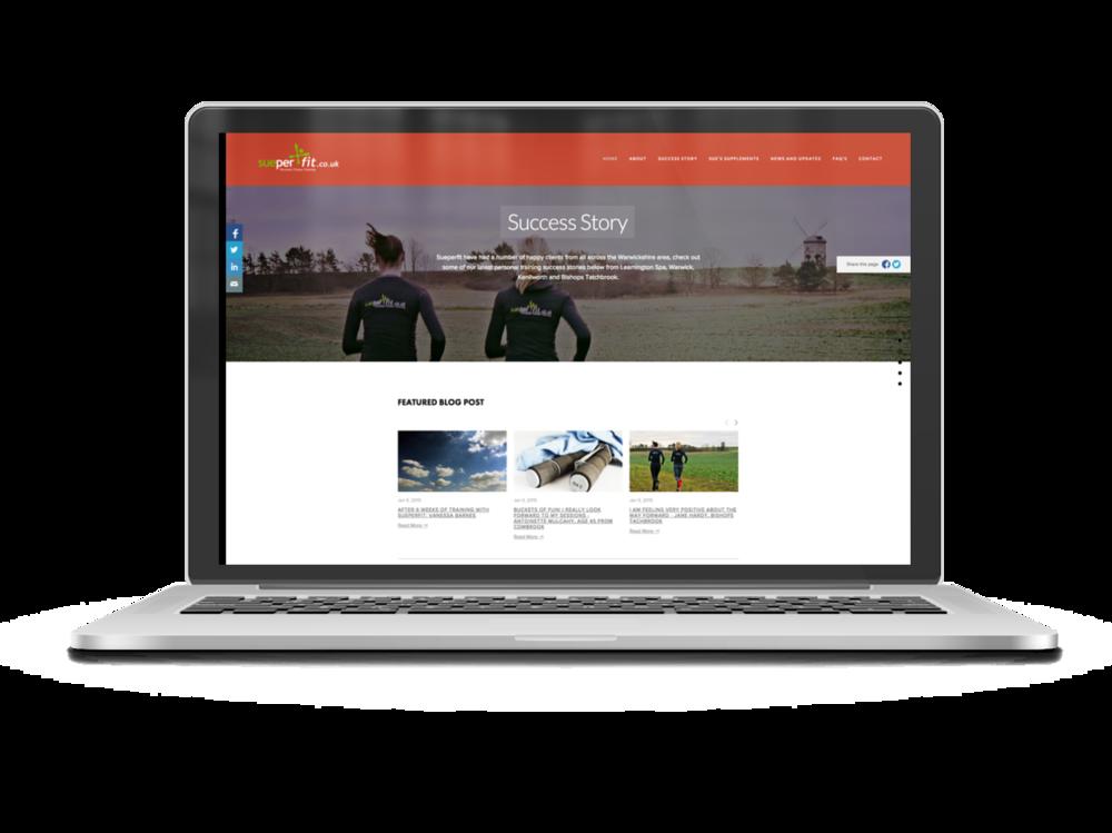 Sueperfit Website Design