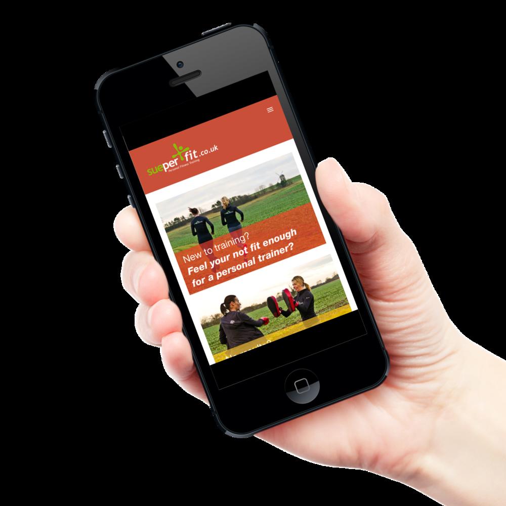 Sueperfit Personal Trainer Website Design