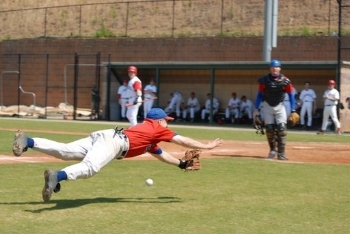 Diving for a foul ball on a Sunday afternoon playing with The Storm (MSBL) in 2006.