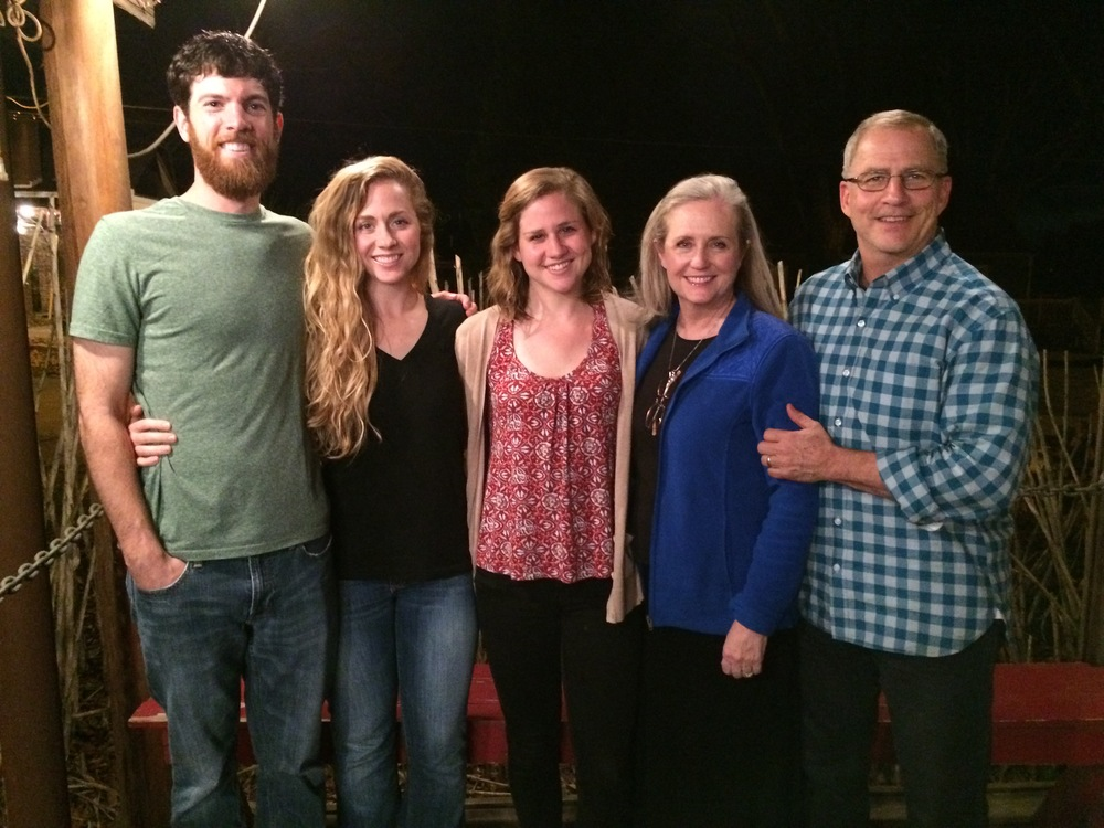 Buz & Devvie along with their two daughters, Maggie and Katie with her husband, Brian Mitchell.