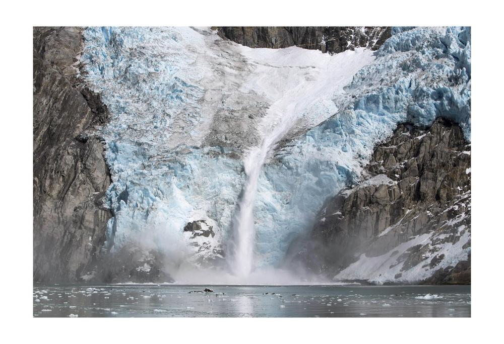 Northwestern Glacier in Northwestern Fjord. Kenai Fjords National Park, Alaska.