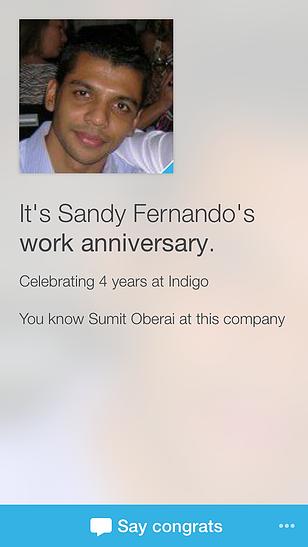 Linkedin Work Anniversary