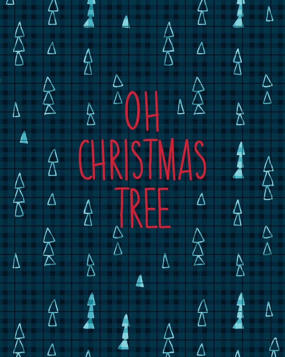 Oh Christmas Tree, 8x10 Digital Download Print — THE ART IN TARA ...