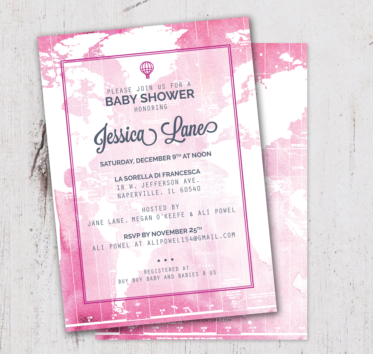 Welcome to The World Baby Girl or Boy Baby Shower Invitation — THE ART IN  TARA Chicago Custom Wedding Invitations and Stationery