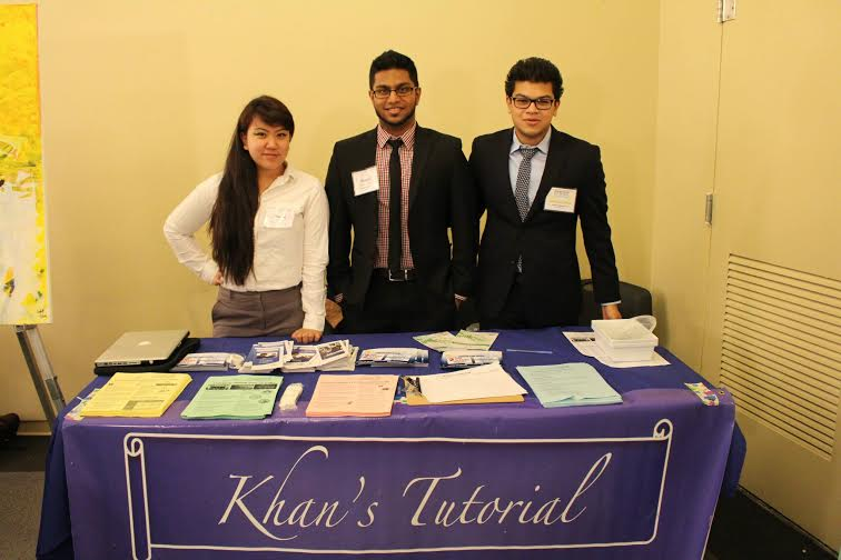 Senior Director Niloy Jafar Iqbal, Mohammed Hossain, and Paulina Batlazar at the KT booth at MIST.