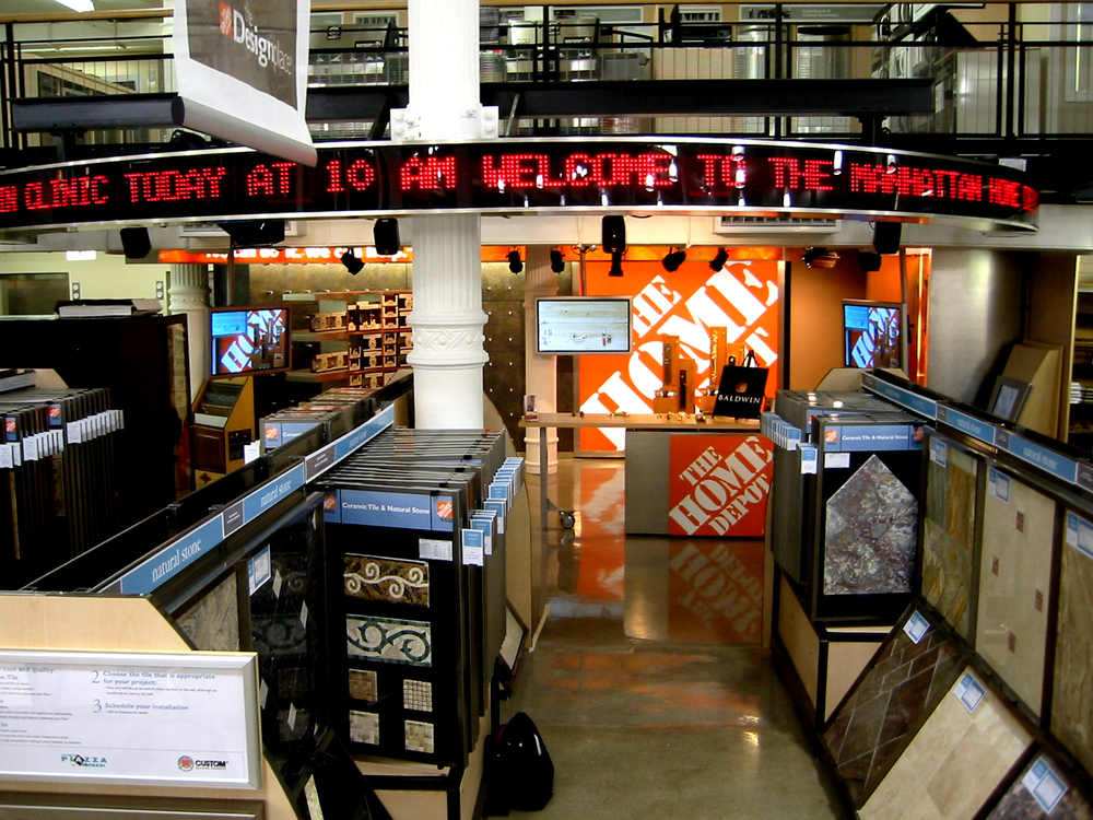 HOME DEPOT DEMONSTRATION AREA