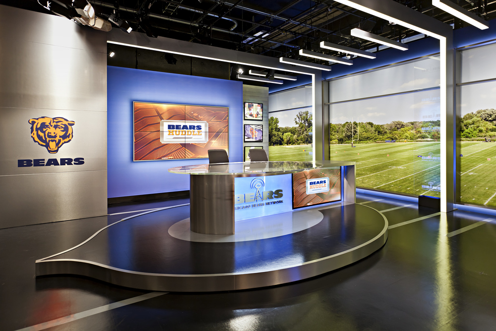 Chicago Bears Broadcast Studio Design