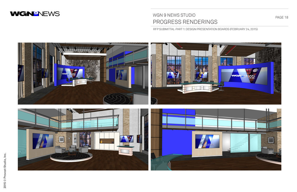 WGN TV9 Newscast Broadcast Studio Design