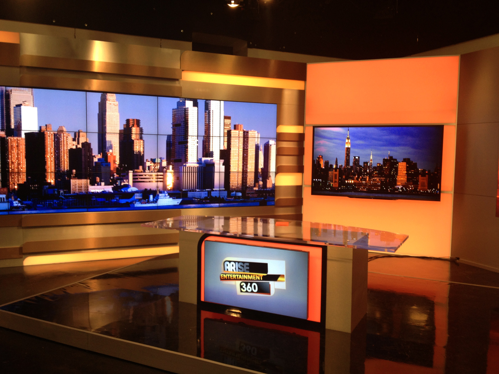 ARISE News New York Broadcast Studio Design
