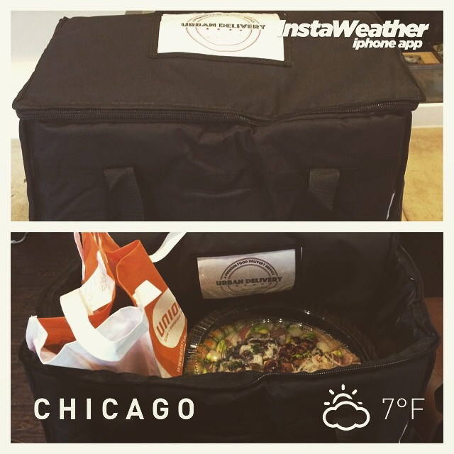 It might be cold outside, but our brand new insulated bags will keep all the food warm when it's delivered! #guaranteed #chicago #weather #food