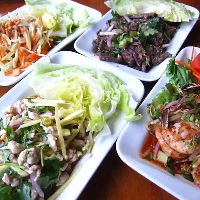 Do you live near south loop? Opart Thai House is one of the best Thai restaurants in the city. Order Now to try out these amazing summer salads to take your mind off this cold weather. #food #chicago #delivery #Thai #salad