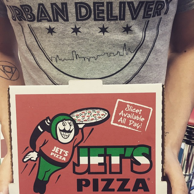 Urban Delivery & Jet's Pizza are partnering to serve you the best pizza in the city. Order now! #chicago #delivery #food