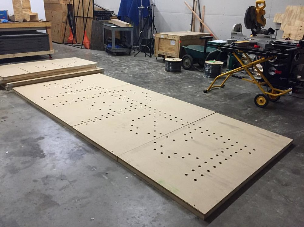 The Future in Hindi, with a chop saw for scale. Photo: Alicia Eggert