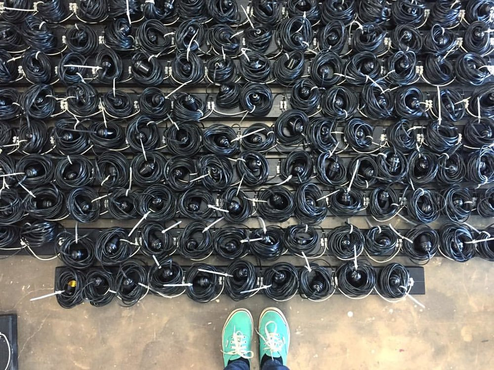 Over a mile of wire and counting… Photo: Alicia Eggert