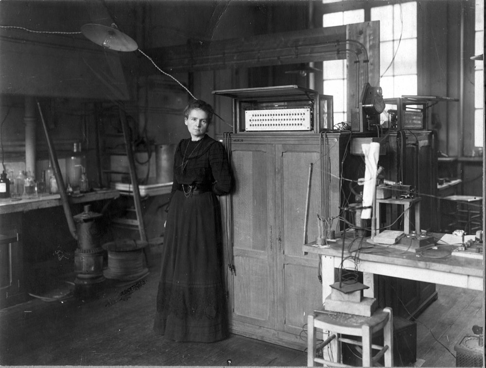 In 1911 Marie Curie won her second Nobel Prize, making her the only person (male or female) to win two Nobels in two different sciences.  Image:  Wikimedia .