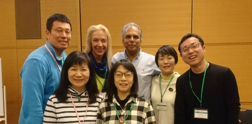 The entire staff of the Trauma Treatment Center and Resources (TTCR) in Saitama, Japan with Dr. Raja Selvam
