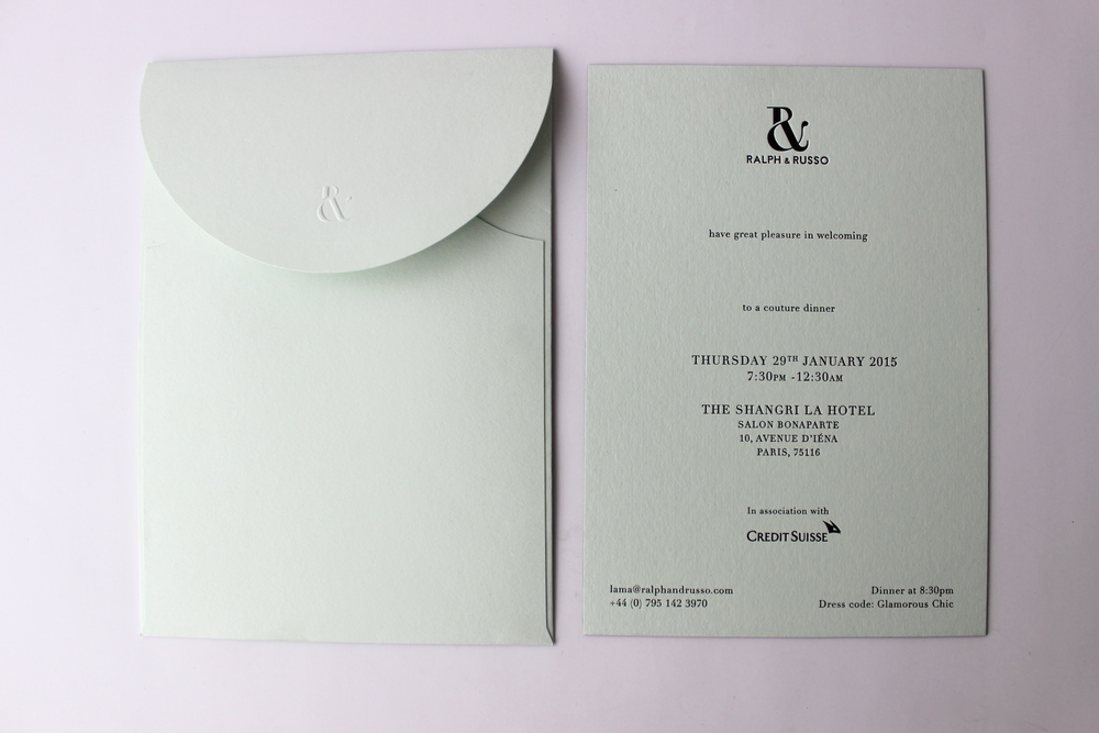 COUTURE DINNER INVITATION