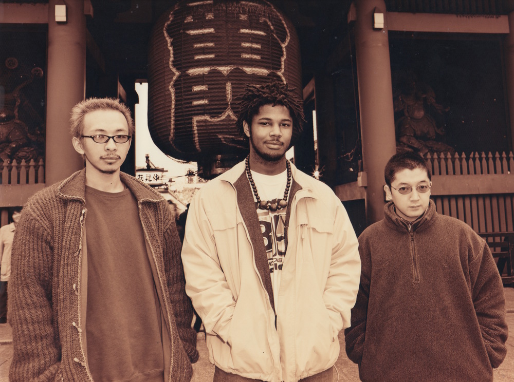 [Left to Right] DJ Deckstream (R.I.P.), Substantial, & Nujabes (R.I.P) - January 2000 in Asakusa