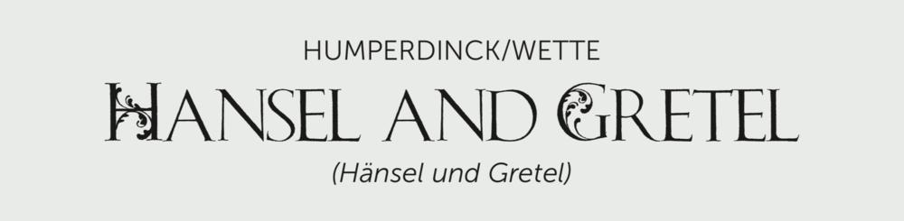 Hansel and Gretel Title Bar