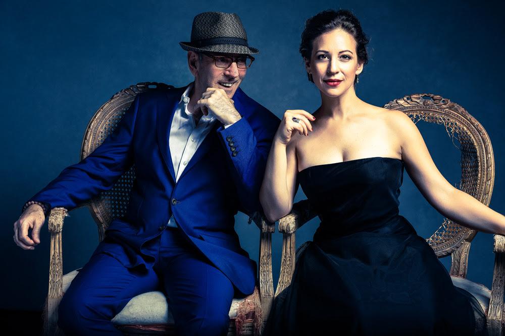 Composer Ricky Ian Gordon and Soprano Jennifer Zetlan.