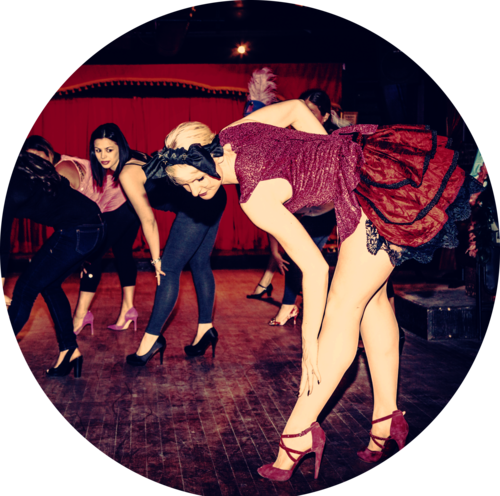 Tease Burlesque 101 - Every week you will learn a simple, classy and sensual burlesque choreography that incorporates striptease using our school's burlesque costume accessories.No experience necessary - everyone welcome! Please bring heels and wear stretchy workout clothes