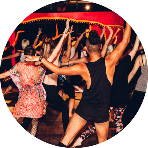 Burlesk Fitness - We use movements inspired by the showgirl and burlesque aesthetic to build a challenging and fun workoutNo experience necessary - everyone welcome! Please dress in stretchy workout clothes and bring either indoor shoes you can dance in or, be ready to dance barefoot.