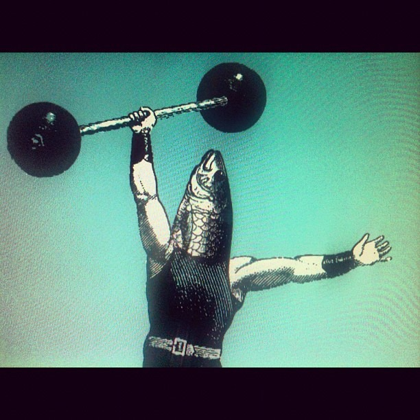 The barbell fish. (Taken with Instagram)