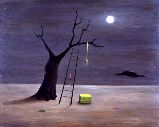Gertrude Abercrombie American, 1908-1977 Design For Death (Originally Charlie Parker's Favorite Painting) oil on masonite, 1946