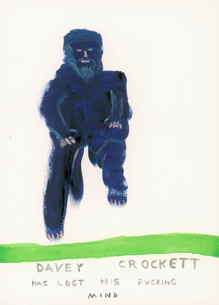 John Lurie    Davey Crockett Has Lost His Fucking Mind    2004   Watercolor on paper