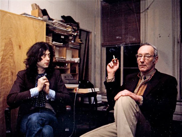 Jimmy Page and William S. Burroughs    Photo taken 1975 at William Burroughs' Manhattan loft