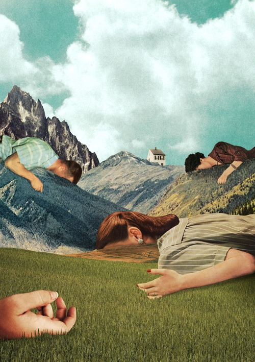 "anneyhall: ""When You Sleep"" Collage by Julien Pacaud"