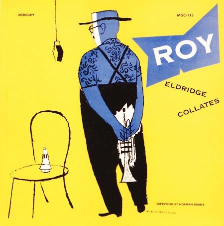 Roy Eldridge Collates album cover - illustration by David Stone Martin via       http://www.birkajazz.com/
