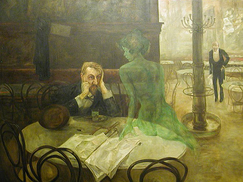 sharingendorphins :      The Absinthe Drinker by Viktor Oliva, 1901