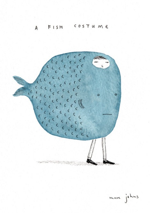 yayeveryday :      fish costume by marc johns